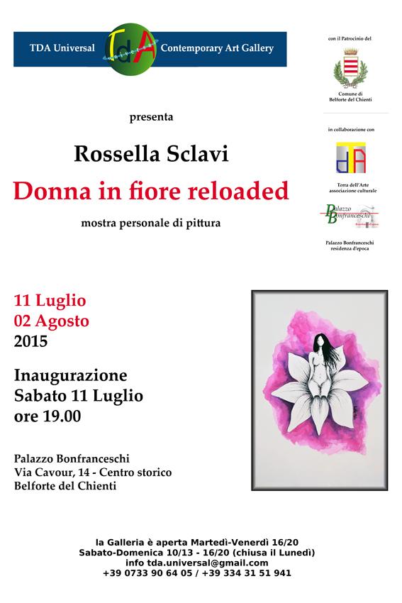 TDA UNIVERSAL-Palazzo Bonfranceschi-Rossella Sclavi-MG-Marcheguida-Belforte del Chienti-Donna in fiore reloaded